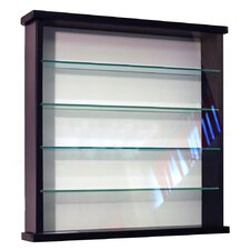 4 Shelf Wall Display Cabinet