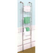 Chrome Wall Mounted 4 Rung Towel Rail