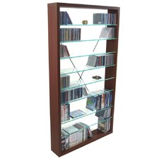 CD / DVD / Media Glass Shelves Storage Tower