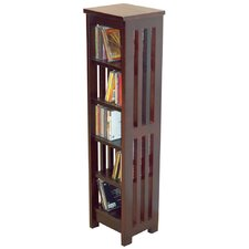 Solid Wood CD / Media Storage Tower