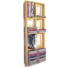 CD / DVD / Blue Ray Double Wall Shelf
