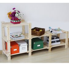 Two Tier Stepped Storage Shelf