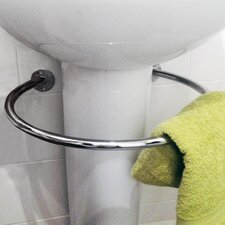 Loop 47 cm Circular Under Sink Towel Rail in Chromed Steel