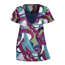 Banded Fashion Print Top