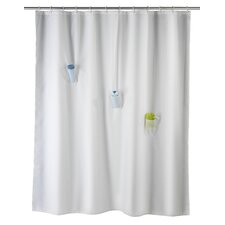 Villa Polyester Anti-Mould Shower Curtain with 3 Pockets