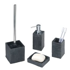 Slate Rock Bathroom Accessory Set
