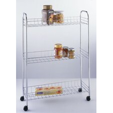 Slim Chrome Rack Trolley