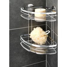 Turbofix Stainless Steel Corner Rack With 2 Shelves