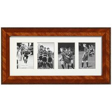 <strong>Addison Ross</strong> Marquetry 4 Aperture Photo Frame with Brown Rope Fibre Back