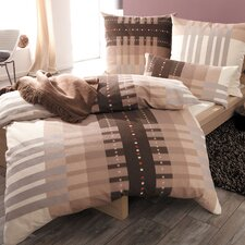 Feline Warp Knitted Terry Bed Linen RV in Beige