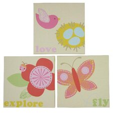 Lullaby Breeze Jill McDonald Canvas Art (Set of 3)