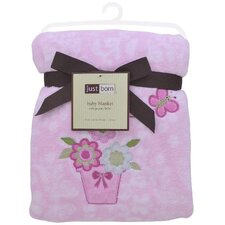 Just Born® Fluffy Beautiful Garden Fleece Blanket