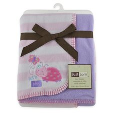 Just Born® 2 Ply Ladybug Reversible Blanket