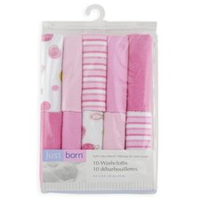 Just Born Knit Terry Washcloth Set (Set of 10) (Set of 10)