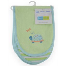 Just Born Knit Terry Burp Cloth (Set of 3)