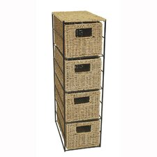 Seagrass 4 Drawer Tower Chest
