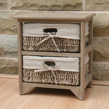 Maize 2 Drawer Wood Cabinet
