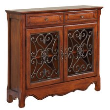 2 Door and 2 Drawer Scroll Console Table