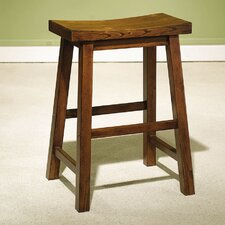 "<strong>Powell Furniture</strong> Antique Black 24"" Bar Stool"