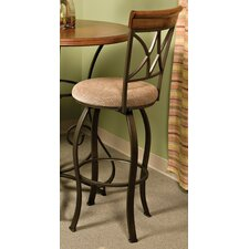 "Pewter 29"" Swivel Bar Stool"
