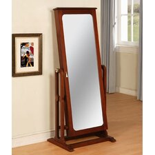 <strong>Powell Furniture</strong> Marquis Cherry Cheval Jewelry Armoire with Mirror