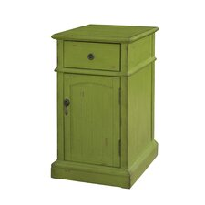 Green Chairside 1 Drawer Cabinet