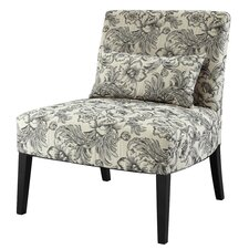 Lila Floral Fabric Slipper Chair