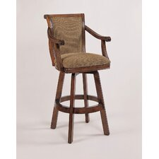 "Brandon Cherry 30"" Swivel Bar Stool with Cushion"