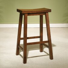 "Honey Brown 29"" Saddleseat Bar Stool"