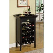 <strong>Powell Furniture</strong> Rub Through 16 Bottle Wine Cabinet