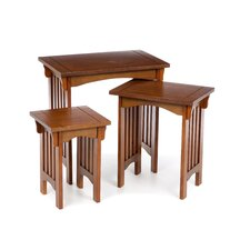 <strong>Powell Furniture</strong> Mission 3 Piece Nesting Tables