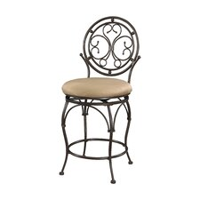 "Big and Tall 24"" Scroll Circle Back Bar Stool with Cushion"