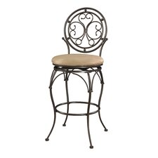 "Big and Tall 30"" Scroll Circle Back Bar Stool with Cushion"