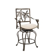 Big and Tall Palm Tree Counter Stool with Arms