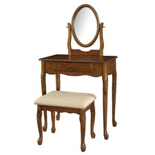 <strong>Powell Furniture</strong> Woodland Vanity Set with Mirror