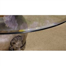 "45"" - 54"" Round Glass Table Top with Beveled or Wave Edge"