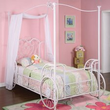 <strong>Powell Furniture</strong> Princess Emily Vintage Carriage Canopy Twin Bed