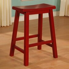 "Color Story 24"" Crimson Red Counter Stool"