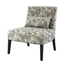 Lila Floral Fabric Slipper Chair