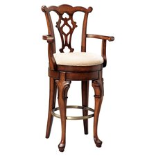 "Jamestown Landing 31"" Swivel Bar Stool with Cushion"
