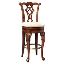 "Jamestown Landing 30.75"" Swivel Bar Stool with Cushion"