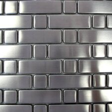 "Metal 10-1/4"" x 10-1/4"" Mosaic in Metal with Rectangles and Squares"