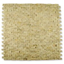 "Contours 12"" x 12"" Classical Random Brick Split-Face Mosaic in Light Emperador"