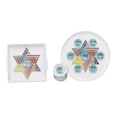 Star of David Porcelain Seder Set