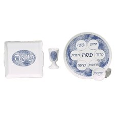 4 Piece Porcelain Seder Set