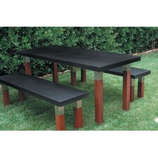 <strong>Modern Outdoor</strong> Kenji 3 Piece Dining Set