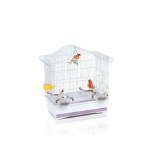 Serena Bird Cage in White