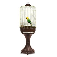 Lory Parrot Cage in Brass