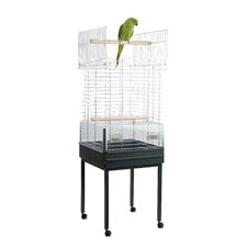 Ezia Special Parrot Cage and Stand in Chrome