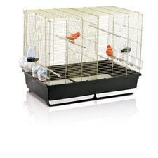 Tasha Bird Cage and Stand in Brass